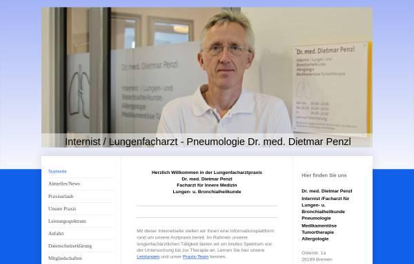 Vorschau von www.lungenfacharzt-penzl.de, Dr. Dietmar Penzl