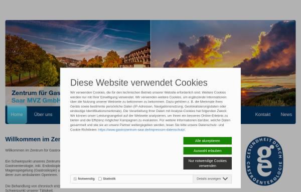Vorschau von www.gastrozentrum-saar.de, Gemeinschaftspraxis - Endoskopiezentrum Dr. W. Mohl M.A., Dr. B. Jüngling GbR