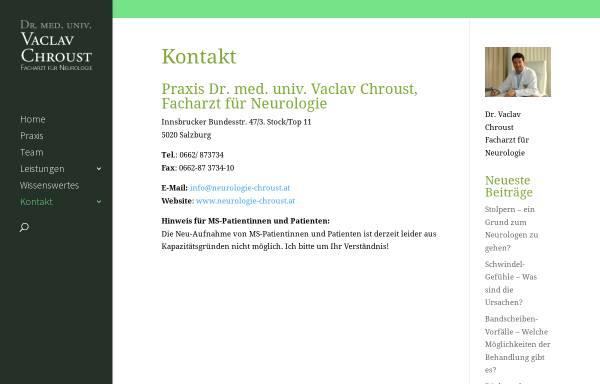 Vorschau von www.neurologie-chroust.at, Chroust, Dr. Vaclav