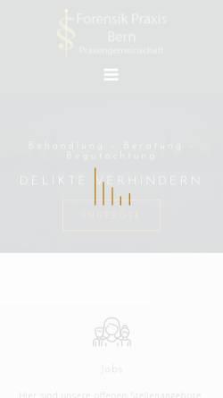 Vorschau der mobilen Webseite forensik-praxis-bern.ch, Jens Sommer - Forensische Praxis