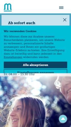 Vorschau der mobilen Webseite www.mind-stuttgart.de, Neuro MVZ Stuttgart