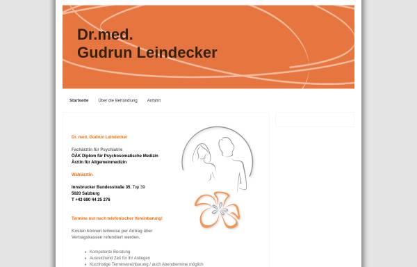 Vorschau von www.leindeckerpraxis.at, Leindecker, Dr. Gudrun
