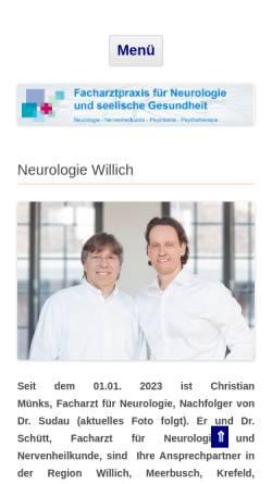 Vorschau der mobilen Webseite neurologie-niederrhein.de, Facharztpraxis für Neurologie und seelische Gesundheit