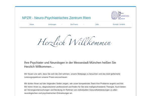 Vorschau von www.npzr.de, NPZR - Neuro-Psychiatrisches Zentrum Riem