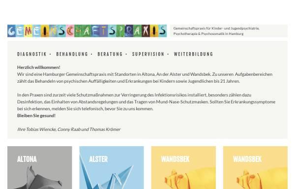 Vorschau von gemeinschaftspraxis-kjp.de, Gemeinschaftspraxis für Kinder- und Jugendpsychiatrie, Psychosomatik und Psychotherapie