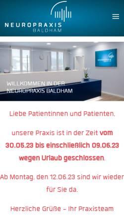 Vorschau der mobilen Webseite neuro-baldham.de, Briesenick, Dr. med. Claus und Förster, Dr. med. Sabine