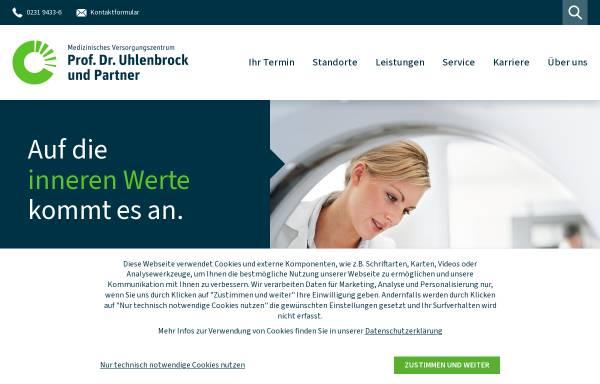 Vorschau von www.mvz-uhlenbrock.de, MVZ Prof. Dr. Uhlenbrock und Partner