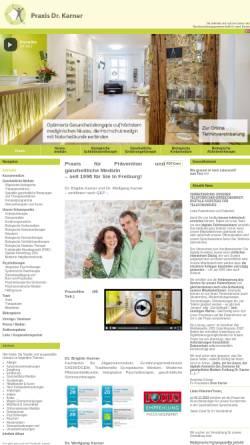 Vorschau der mobilen Webseite www.schmerzfreizentrum-freiburg.de, Schmerzfrei Dr. Karner