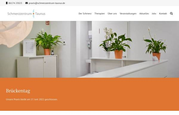 Vorschau von www.schmerzzentrum-taunus.de, Schmerzzentrum Taunus