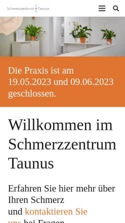 Vorschau der mobilen Webseite www.schmerzzentrum-taunus.de, Schmerzzentrum Taunus