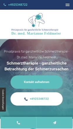Vorschau der mobilen Webseite feelgood-doktor.de, Dr. med. Marianne Feldmaier