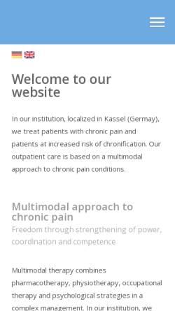 Vorschau der mobilen Webseite www.schmerzmedizin-kassel.de, Praxis für Schmerzmedizin Kassel