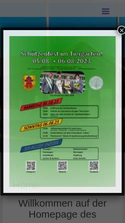 Vorschau der mobilen Webseite www.1847er.de, Schützenverein: Delmenhorster Schützenverein von 1847 e.V.