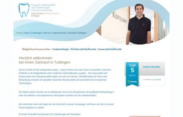 Vorschau von www.zahnmedizin-chenillet.de, André Chenillet Fachzahnarzt für Oralchirurgie