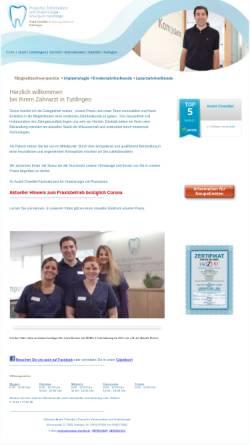 Vorschau der mobilen Webseite www.zahnmedizin-chenillet.de, André Chenillet Fachzahnarzt für Oralchirurgie