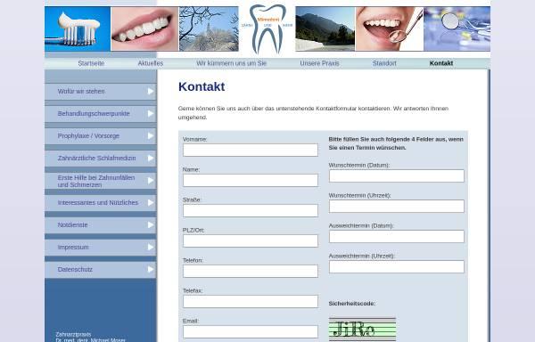 Vorschau von www.mimodent.de, Dr. med. dent. Michael Moser