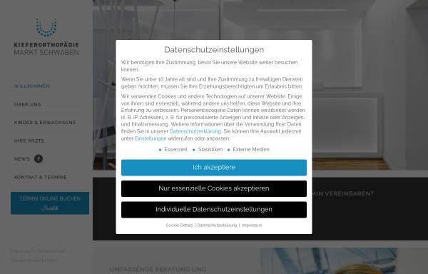 Vorschau von www.kfo-marktschwaben.de, Kieferorthopaedie Markt Schwaben - Dr. Evelyn Schmid