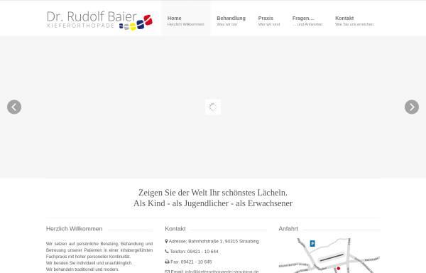 Vorschau von www.kieferorthopaede-straubing.de, Dr. Rudolf Baier Kieferorthopäde