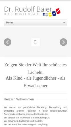 Vorschau der mobilen Webseite www.kieferorthopaede-straubing.de, Dr. Rudolf Baier Kieferorthopäde