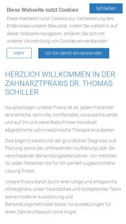Vorschau der mobilen Webseite www.olching-zahnarzt.de, Zahnarztpraxis Dr. Thomas Schiller
