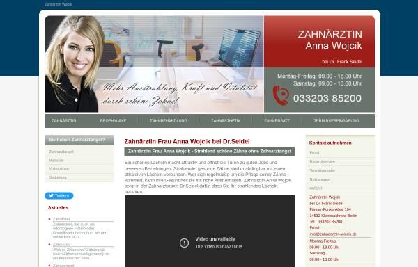 Vorschau von www.zahnaerztin-wojcik.de, Zahnärztin Anna Wojcik