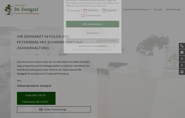 Vorschau von www.dr-zentgraf.de, Dr. med. dent. Christian Zentgraf, MSc Endodontie
