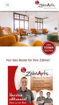 Vorschau der mobilen Webseite zahnarzt-massis.de, Zahnarzt Joseph Massis Nordhorn - Spezialist für Implantologie