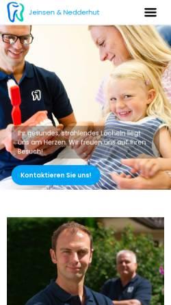 Vorschau der mobilen Webseite www.jeinsen-nedderhut.de, Zahnärztliche Berufsausübungsgemeinschaft Dr. Christian Jeinsen und Ingo Nedderhut