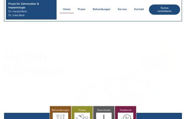 Vorschau von www.zahnarzt-bornheim.de, Dr. med .dent. Harald Beck und Dr. med. dent. Jutta Beck