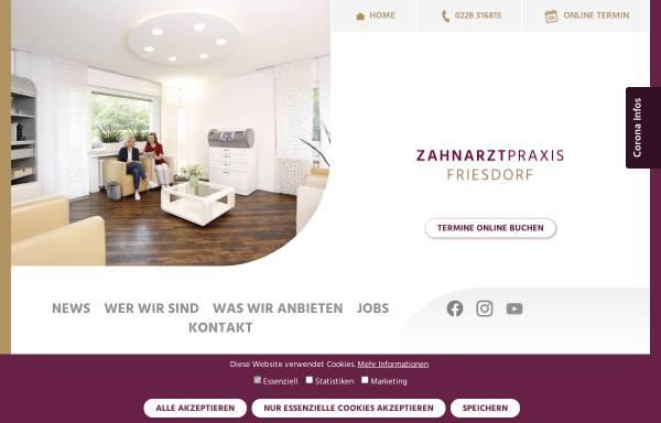 Vorschau von zahnarztpraxis-friesdorf.de, Zahnarztpraxis Friesdorf