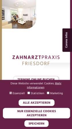 Vorschau der mobilen Webseite zahnarztpraxis-friesdorf.de, Zahnarztpraxis Friesdorf