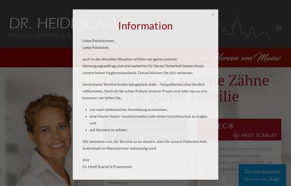 Vorschau von www.zahnarzt-in-mainz.de, Dr. med. dent. Heidi Scarlat