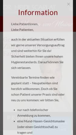 Vorschau der mobilen Webseite www.zahnarzt-in-mainz.de, Dr. med. dent. Heidi Scarlat