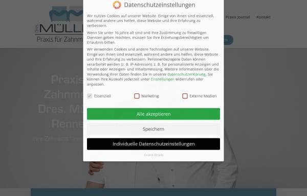 Vorschau von zahnarzt-rennerod.de, Praxis für Zahnmedizin Müller