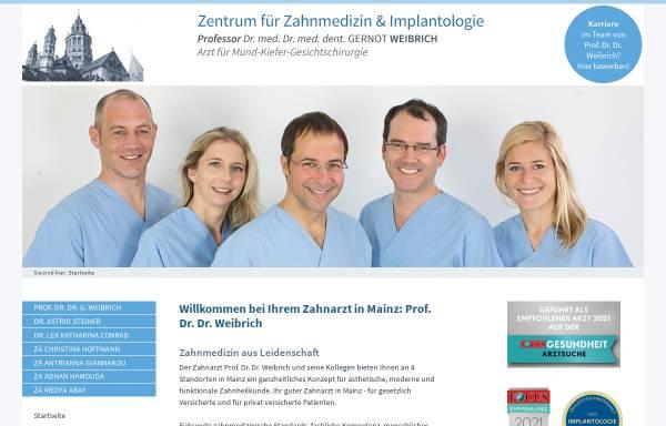 Vorschau von www.zentrum-fuer-zahnmedizin-und-implantologie-mainz.de, Prof. Dr. med. Dr. med. dent. Gernot Weibrich