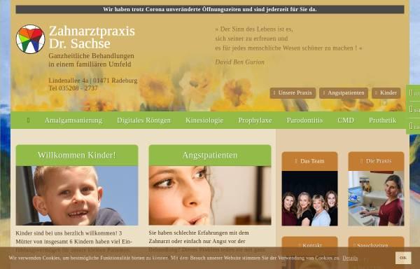 Vorschau von zahnarztpraxis-sachse.de, Zahnarztpraxis Dr. Christiane Sachse