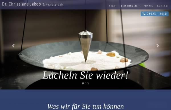 Vorschau von www.zahnarzt-jakob-zerbst.de, Dr. dent. Christiane Jakob