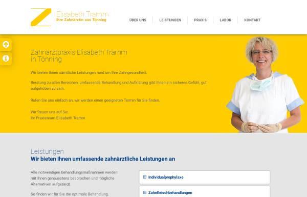 Vorschau von www.zahnarzt-toenning.de, Zahnarztpraxis Elisabeth Tramm