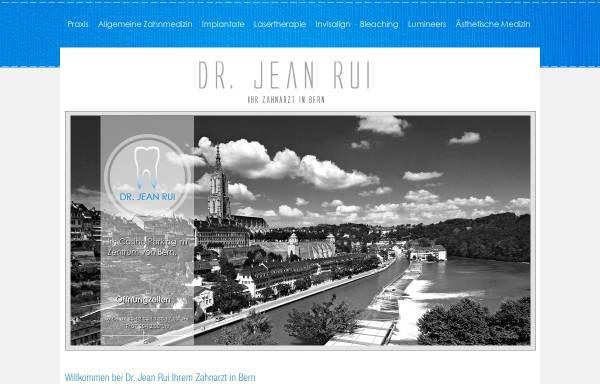 Vorschau von www.rui.ch, Dr. med. dent. Jean Rui