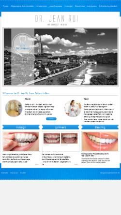 Vorschau der mobilen Webseite www.rui.ch, Dr. med. dent. Jean Rui