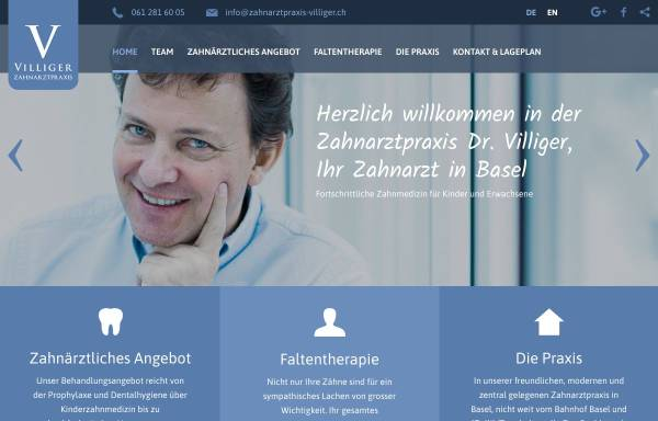 Vorschau von www.zahnarztpraxis-villiger.ch, Dr. med. med. dent. Christoph Villiger