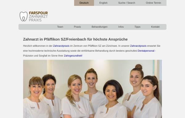 Vorschau von www.zahnarzt-farspour.ch, Zahnarztpraxis Dr. Farspour