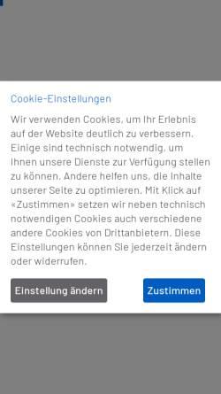 Vorschau der mobilen Webseite www.eff-zett.ch, Eff-zett das fachzentrum