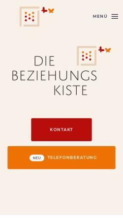 Vorschau der mobilen Webseite www.die-beziehungskiste.info, Die Beziehungskiste