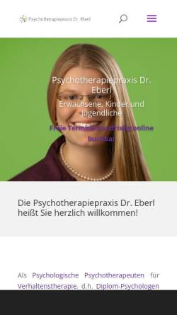 Vorschau der mobilen Webseite www.psychotherapie.health, Paartherapie Dr. Eberl