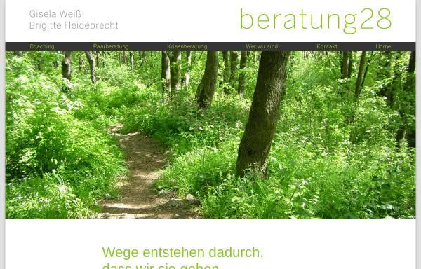 Vorschau von www.beratung28.de, Beratung28 GbR Gisela Weiß