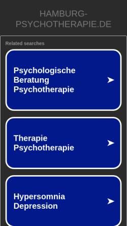 Vorschau der mobilen Webseite www.hamburg-psychotherapie.de, Integrative Paartherapie Barbara Stieghan