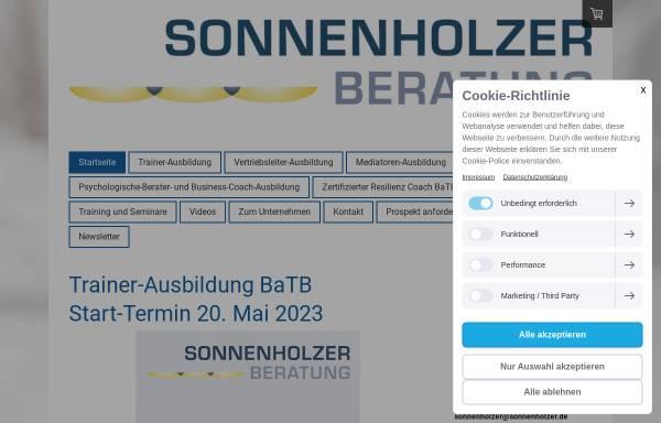 Vorschau von www.sonnenholzer.de, Sonnenholzer Beratung
