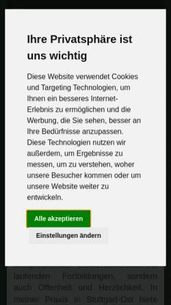 Vorschau der mobilen Webseite beziehungsmuster.de, Marion Stelter