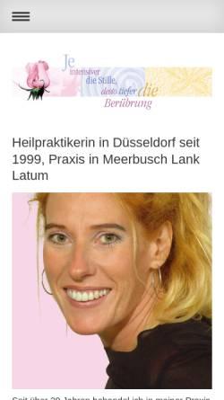 Vorschau der mobilen Webseite www.heilpraktiker-duesseldorf-oberkassel.de, Annette Gralke